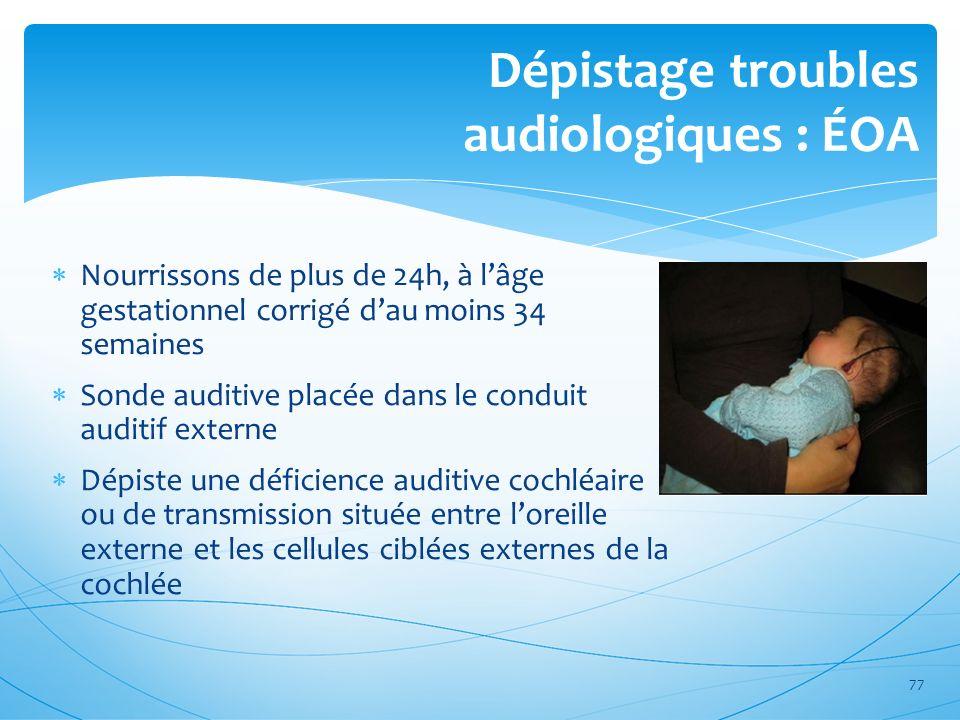 Dépistage troubles audiologiques : ÉOA