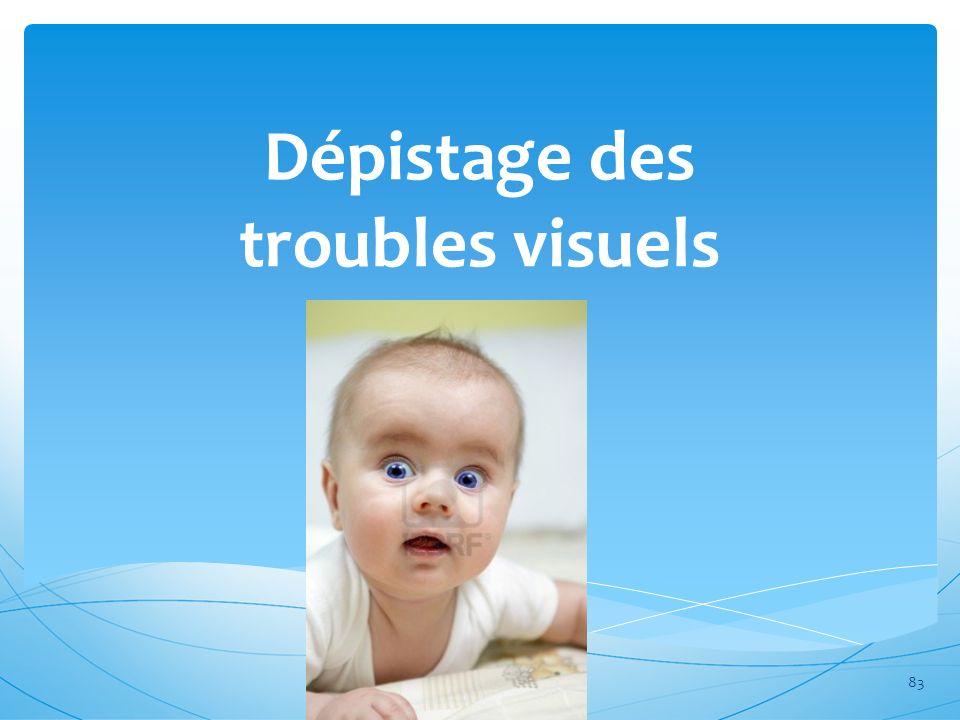 Dépistage des troubles visuels