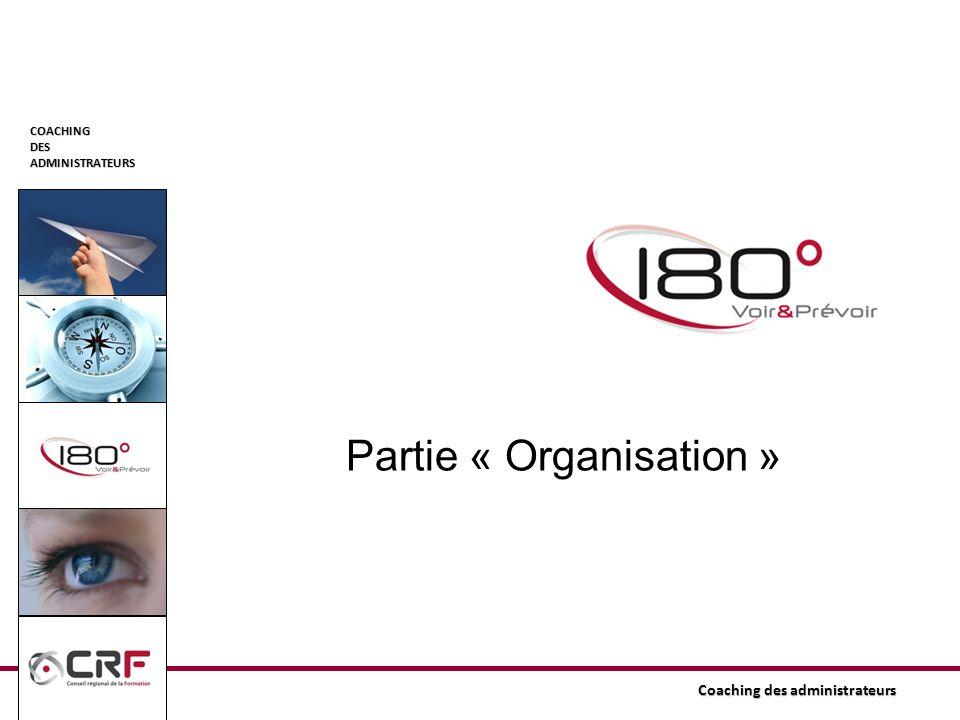 Partie « Organisation »
