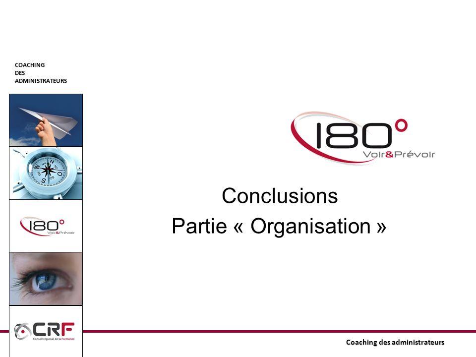 Conclusions Partie « Organisation »