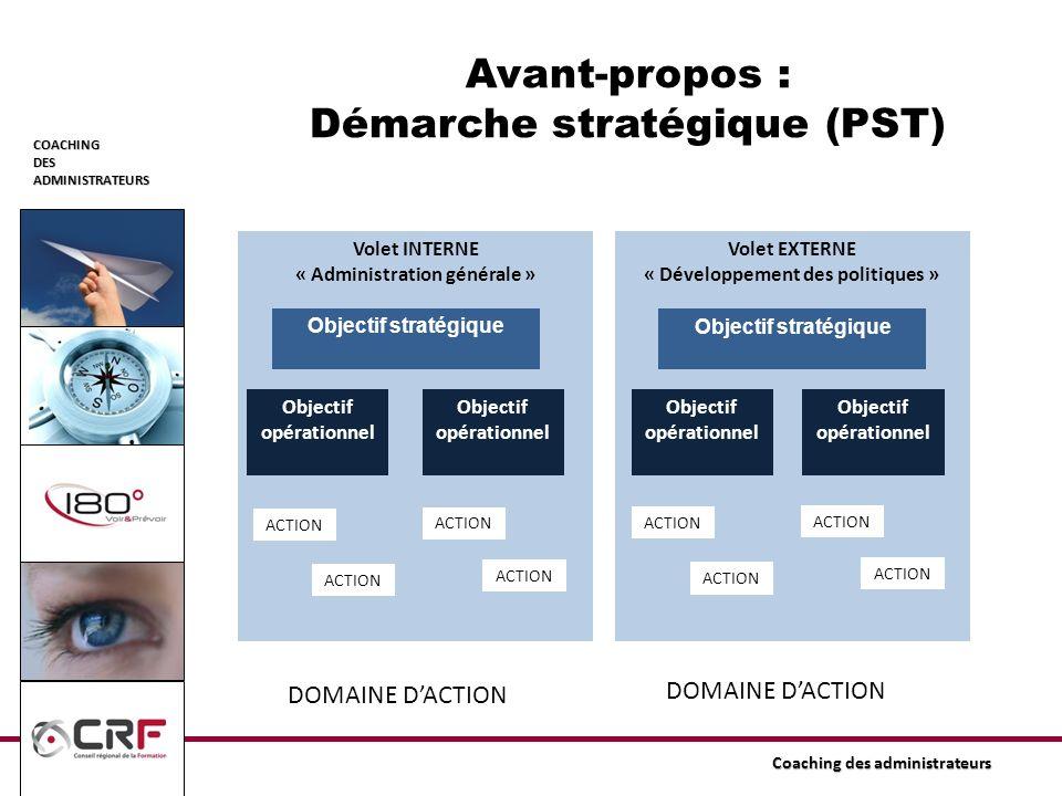 Avant-propos : Démarche stratégique (PST)