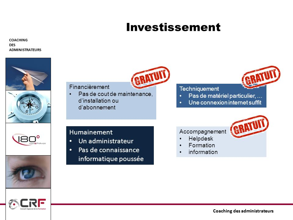 Investissement Humainement Un administrateur