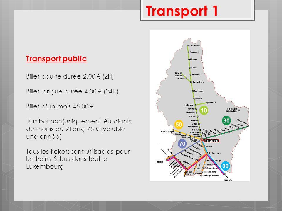 Transport 1 Transport public hgfc Billet courte durée 2.00 € (2H)