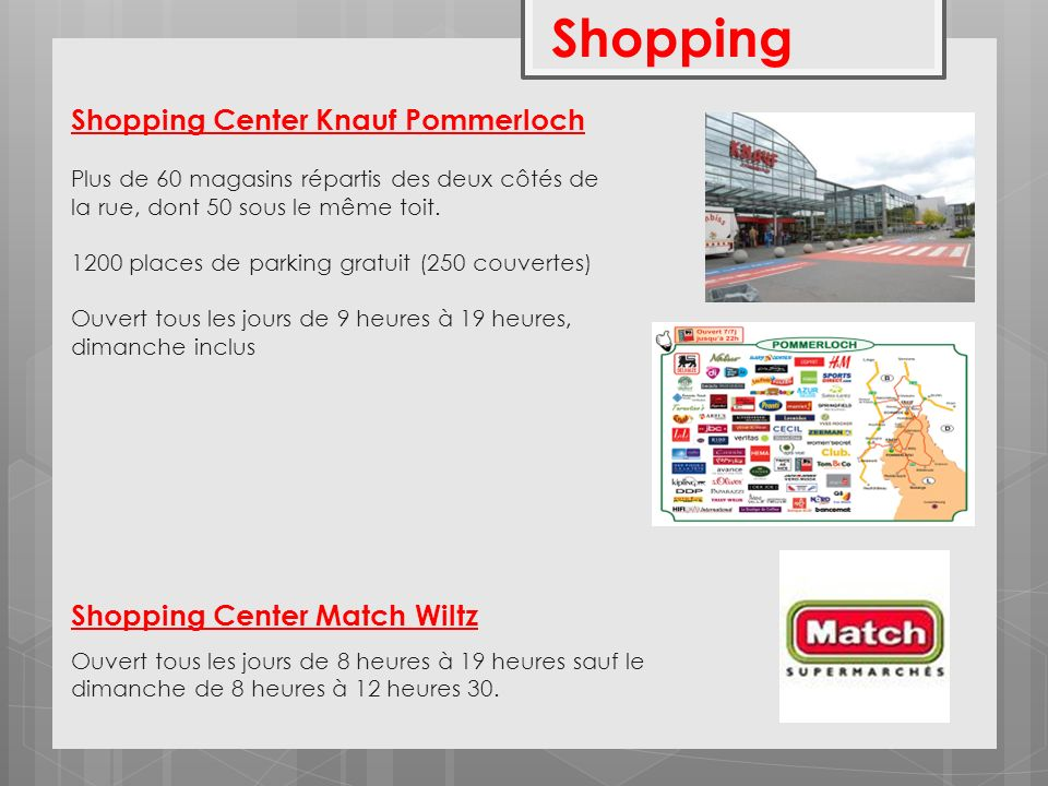 Shopping Shopping Center Knauf Pommerloch Shopping Center Match Wiltz
