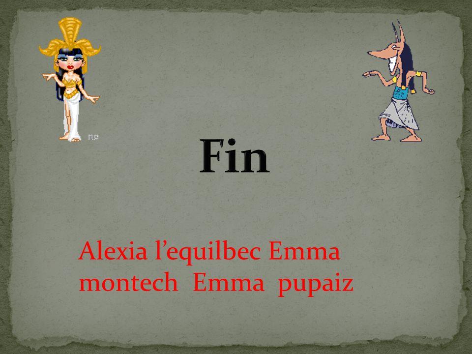 Fin Alexia l'equilbec Emma montech Emma pupaiz