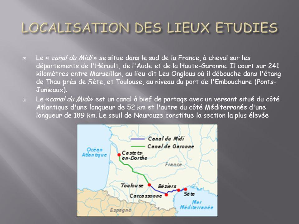 LOCALISATION DES LIEUX ETUDIES
