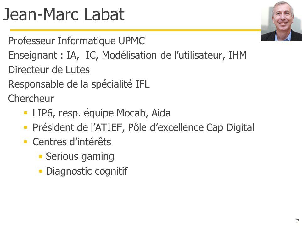 Jean-Marc Labat Professeur Informatique UPMC