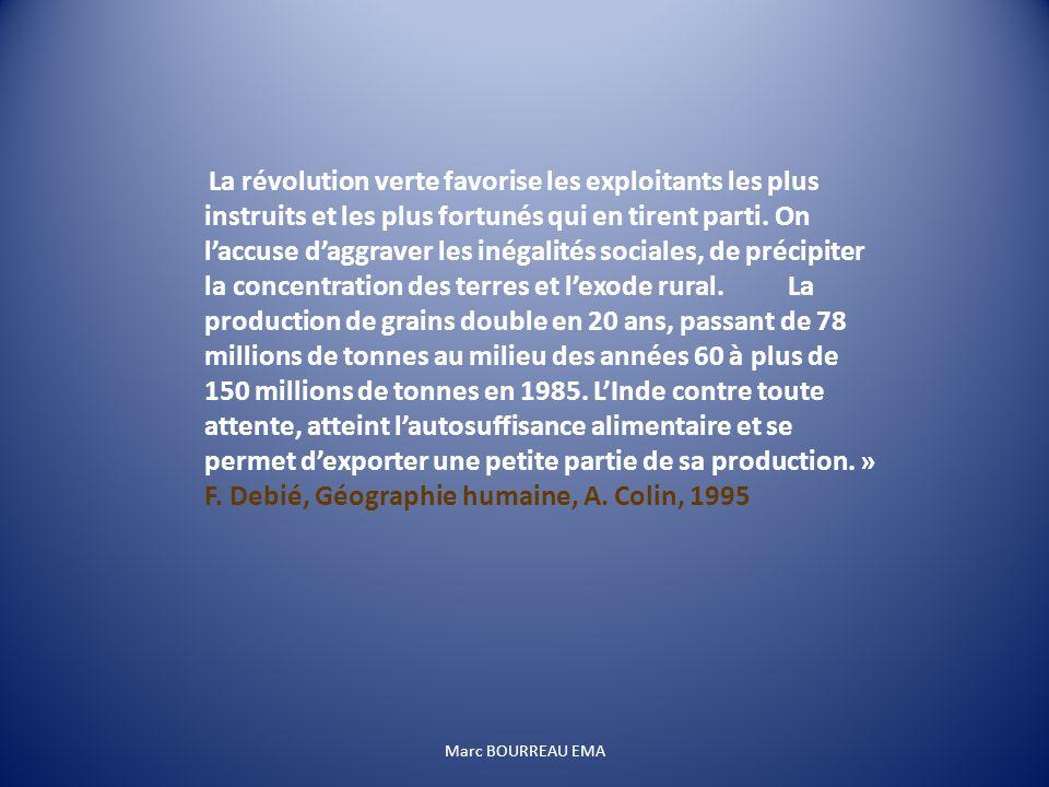 F. Debié, Géographie humaine, A. Colin, 1995