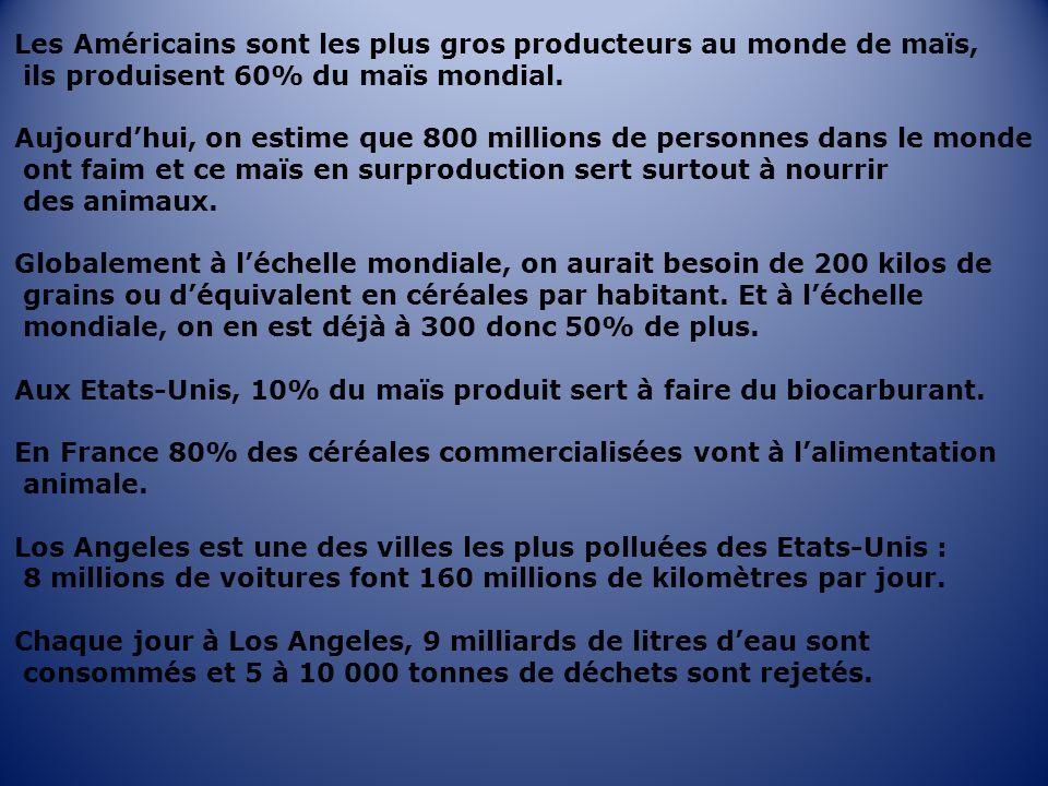 Les Américains sont les plus gros producteurs au monde de maïs,