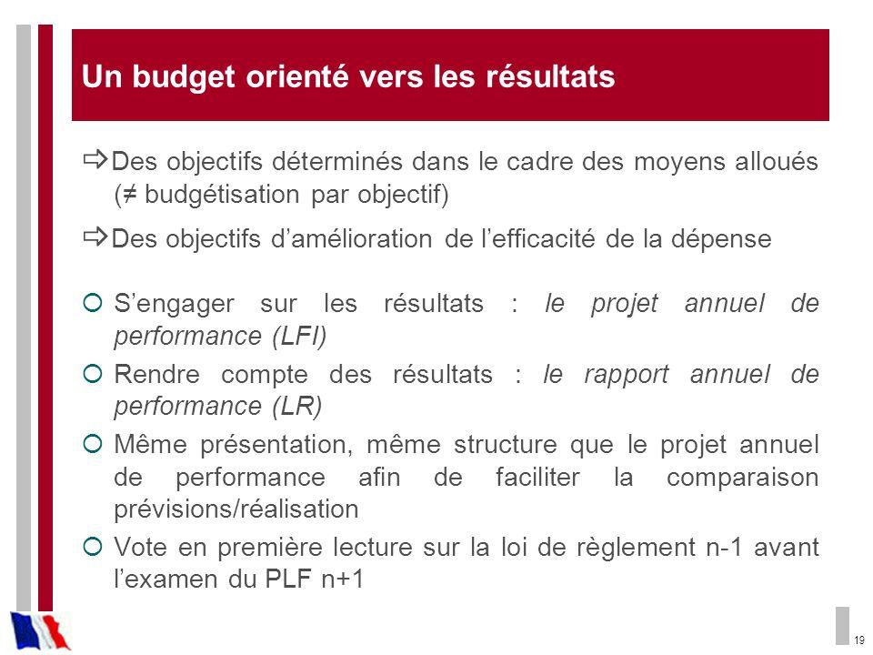 Un budget orienté vers les résultats