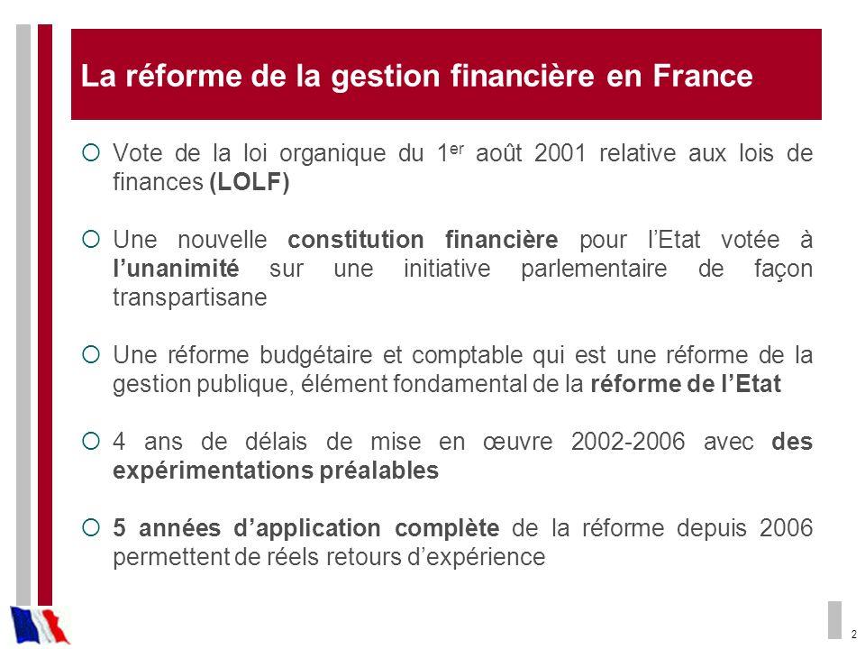 La réforme de la gestion financière en France
