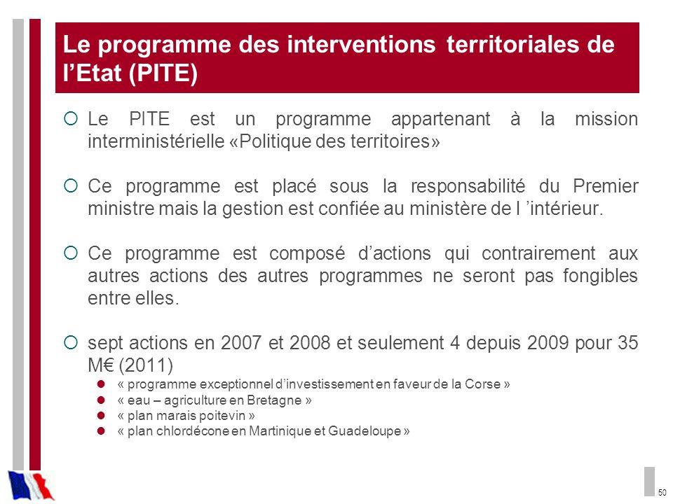 Le programme des interventions territoriales de l'Etat (PITE)