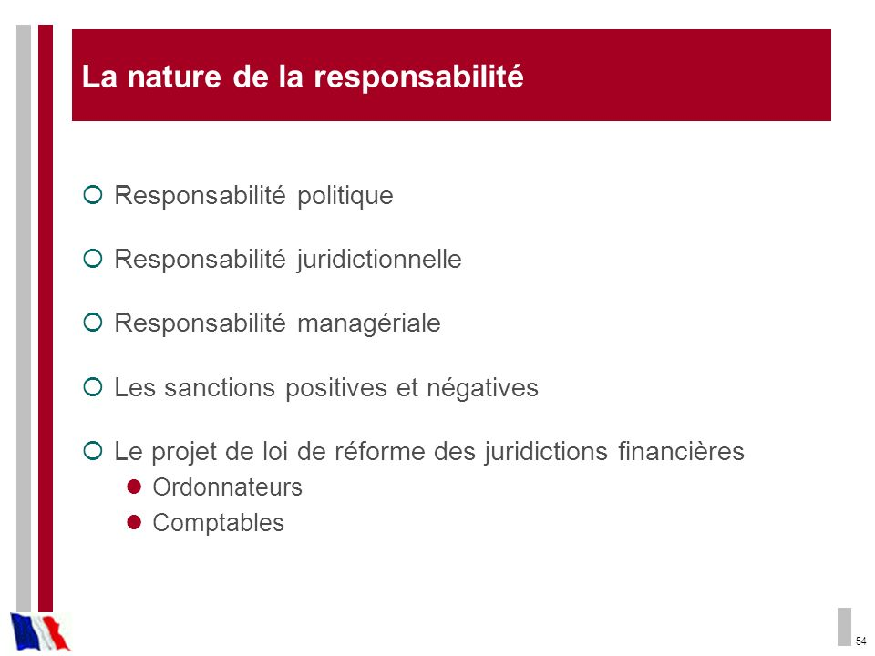 La nature de la responsabilité