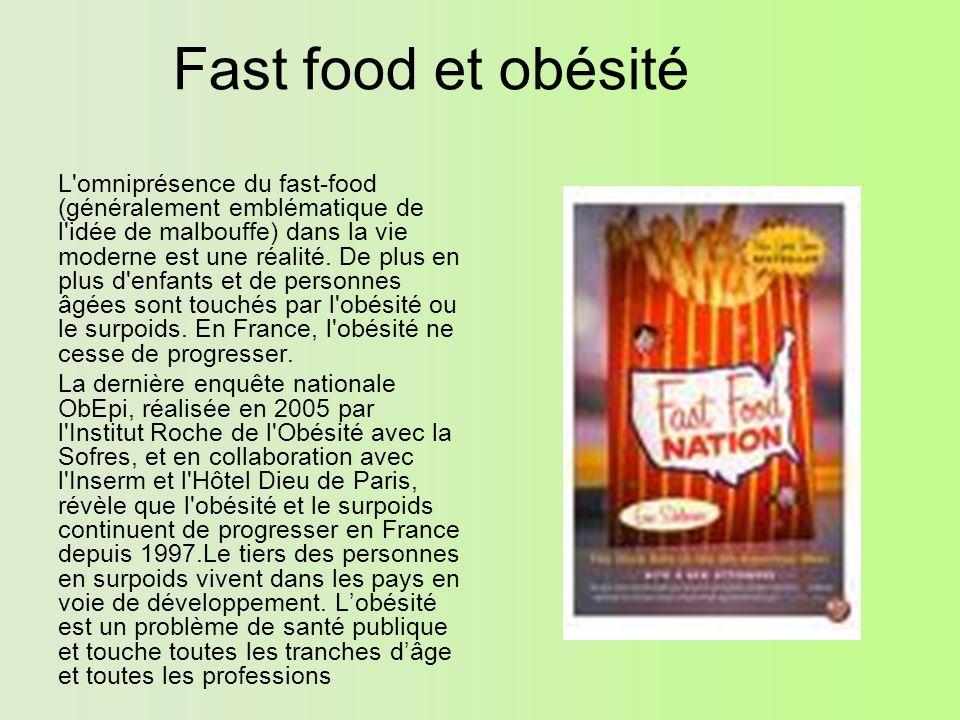 Fast food et obésité