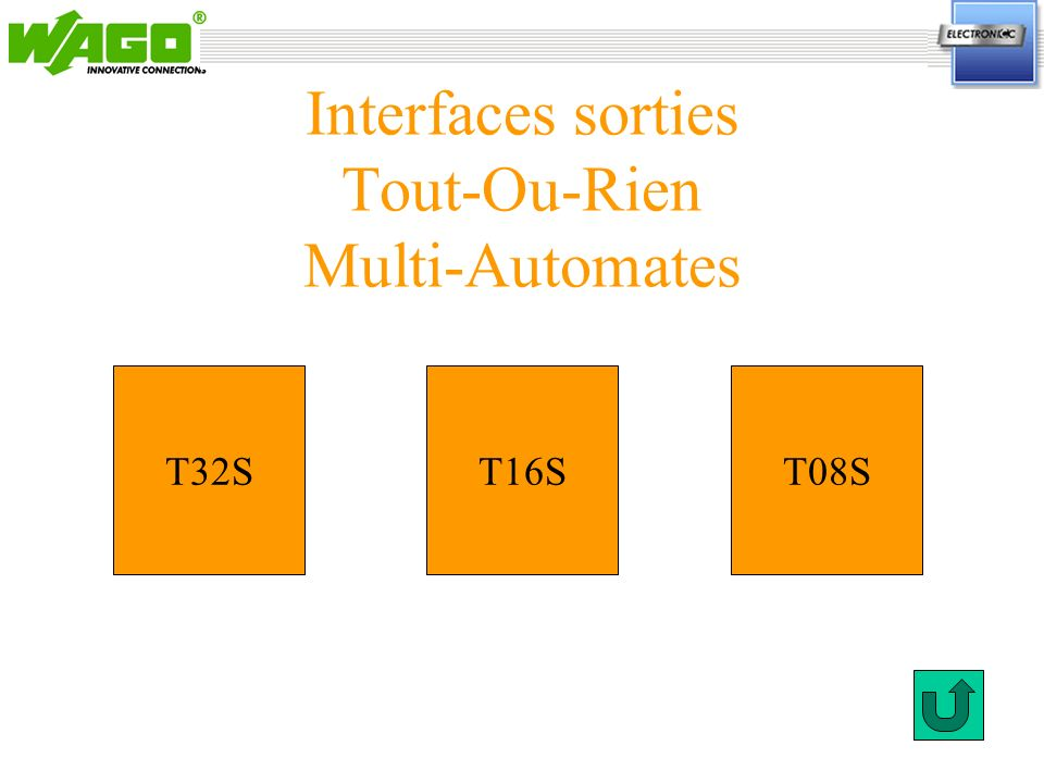Interfaces sorties Tout-Ou-Rien Multi-Automates