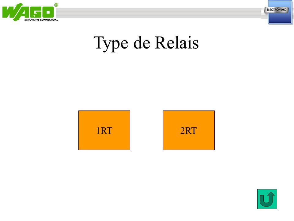 3 Type de Relais 1RT 2RT