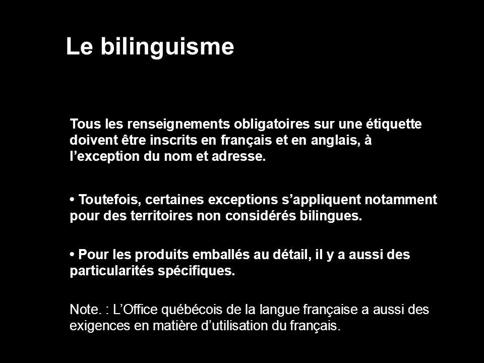 Le bilinguisme
