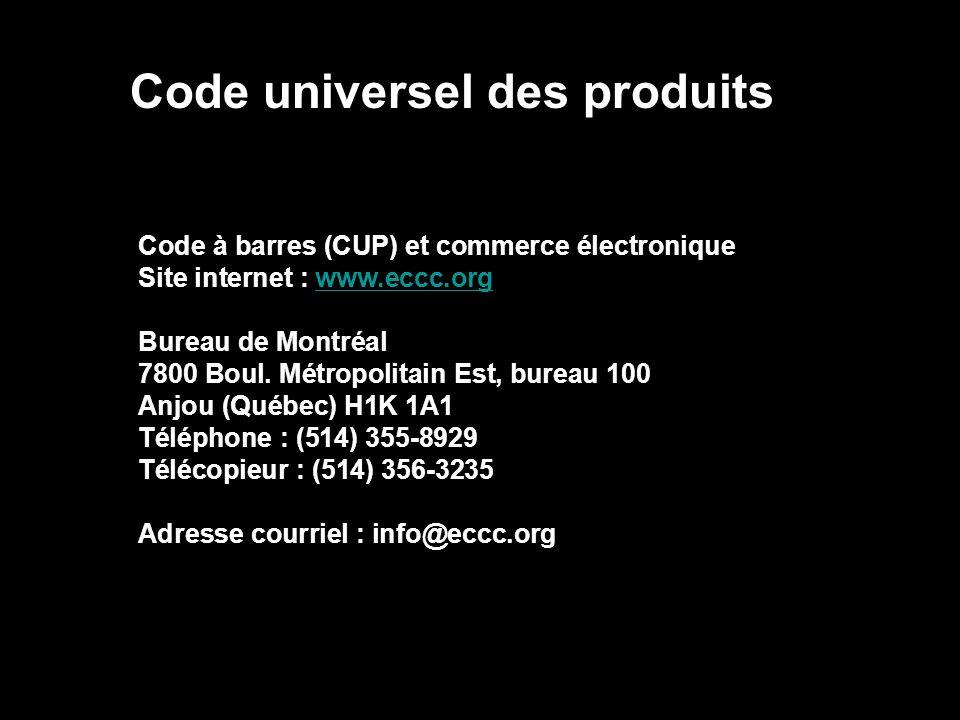 Code universel des produits
