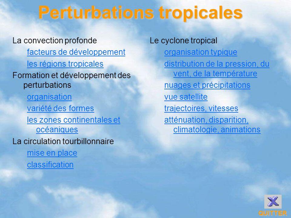 Perturbations tropicales