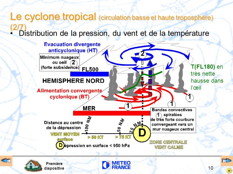 Le cyclone tropical (circulation basse et haute troposphère) (2/7)