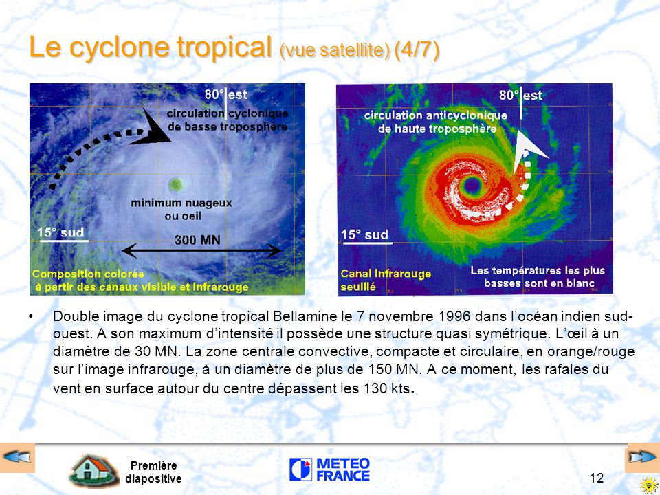 Le cyclone tropical (vue satellite) (4/7)