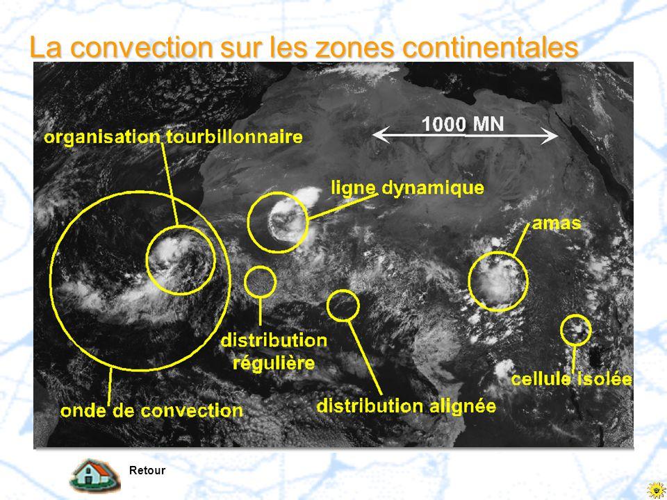 La convection sur les zones continentales