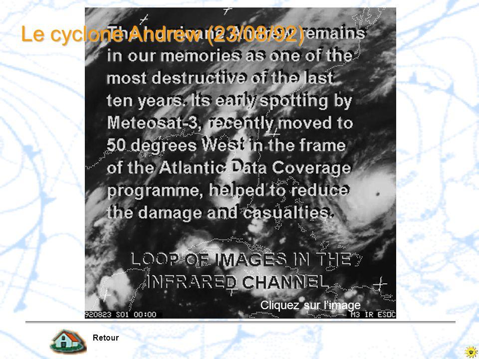 Le cyclone Andrew (23/08/92) Cliquez sur l'image Retour