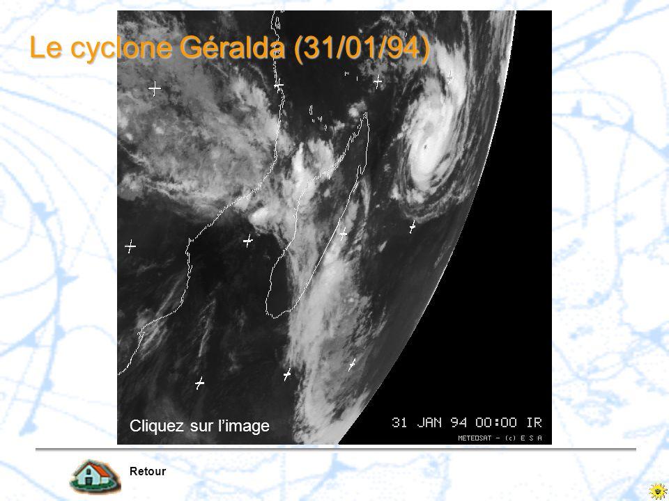 Le cyclone Géralda (31/01/94)