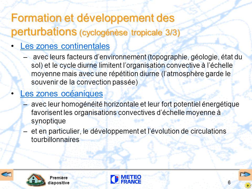 Formation et développement des perturbations (cyclogénèse tropicale 3/3)