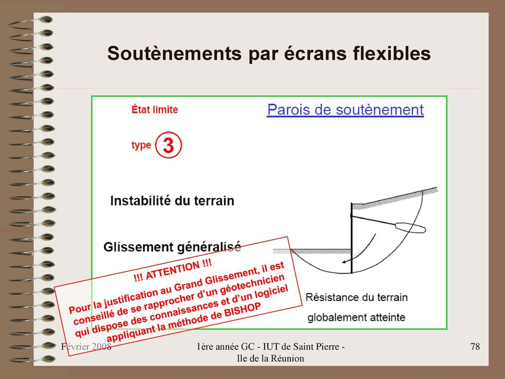 Soutènements par écrans flexibles