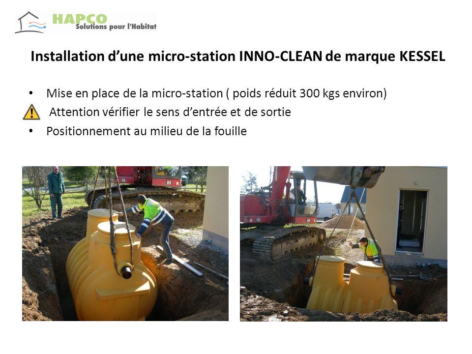 Installation d'une micro-station INNO-CLEAN de marque KESSEL