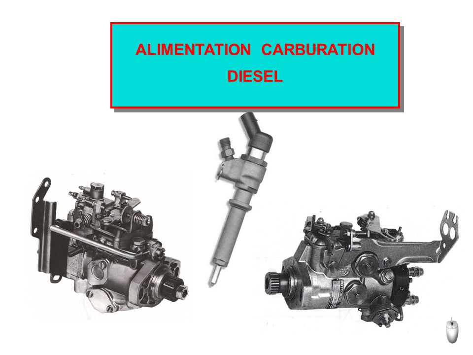 ALIMENTATION CARBURATION DIESEL