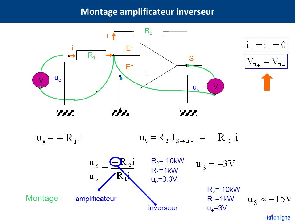 Montage amplificateur inverseur