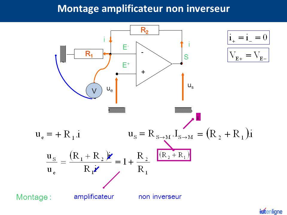 Montage amplificateur non inverseur