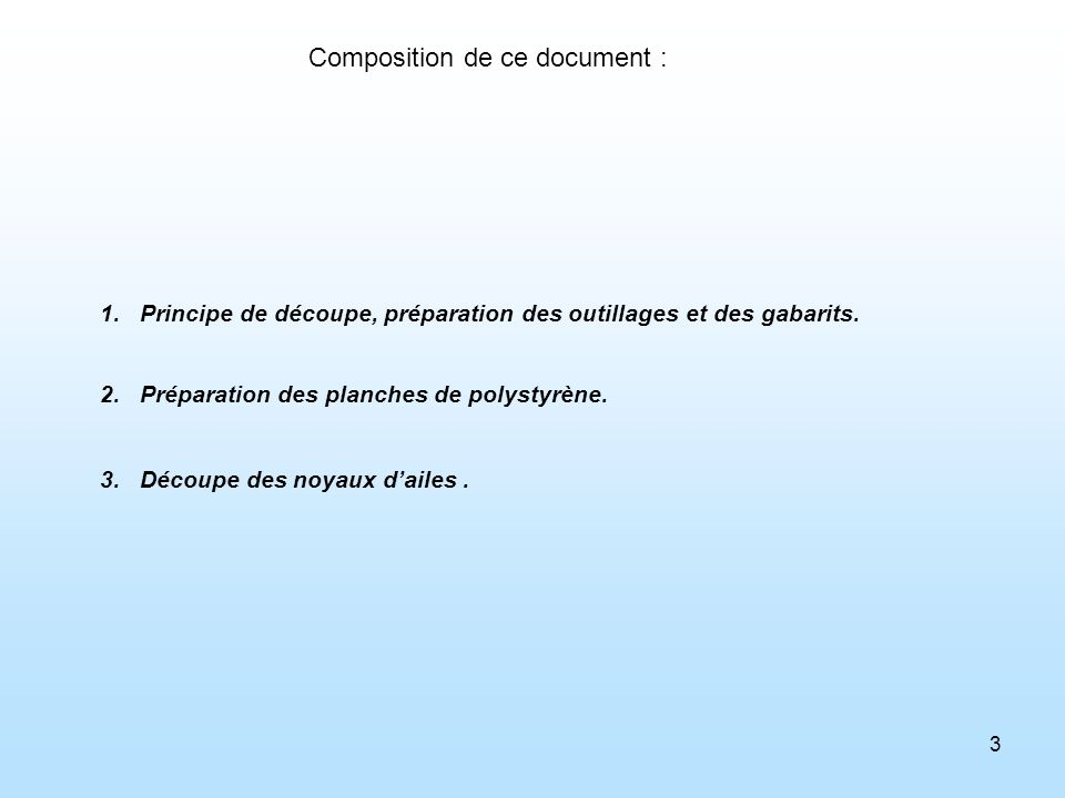 Composition de ce document :