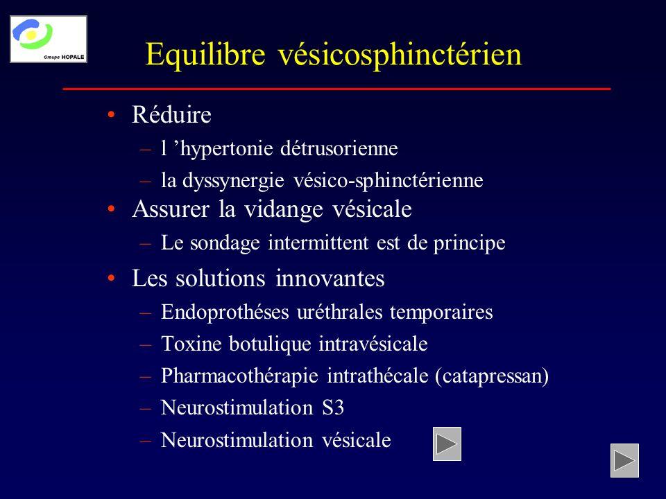 Equilibre vésicosphinctérien