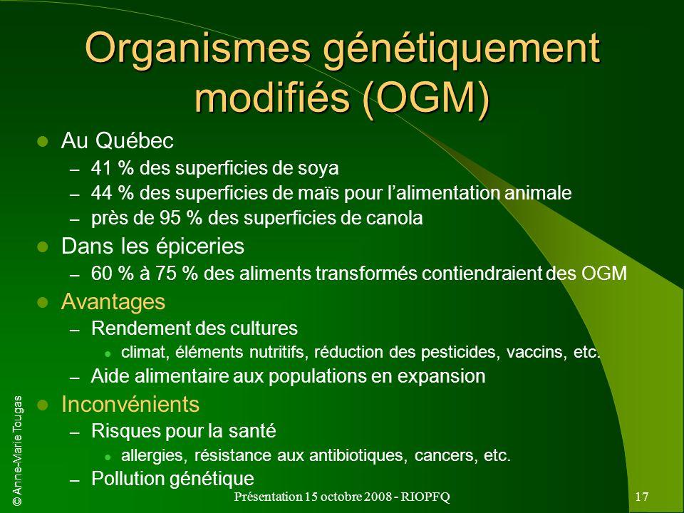Organismes génétiquement modifiés (OGM)