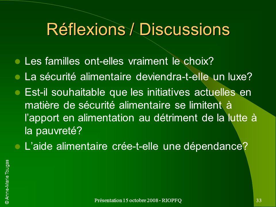 Réflexions / Discussions