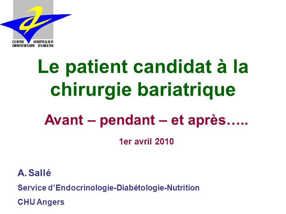 Le patient candidat à la chirurgie bariatrique