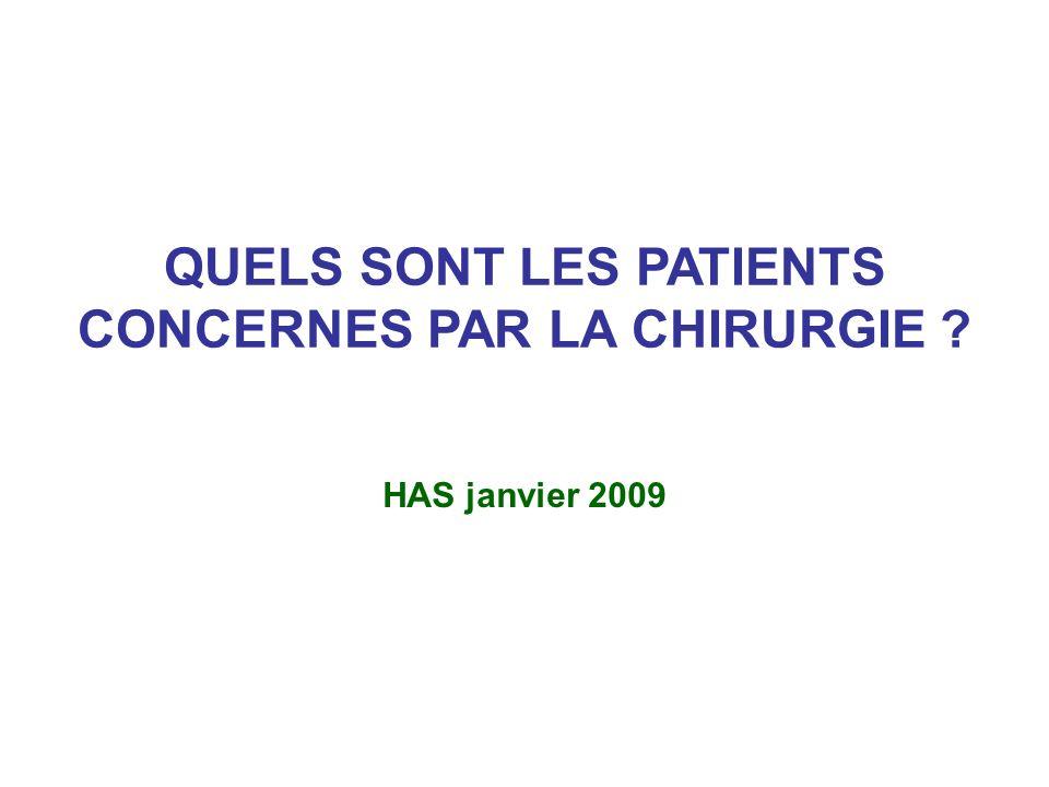 QUELS SONT LES PATIENTS CONCERNES PAR LA CHIRURGIE