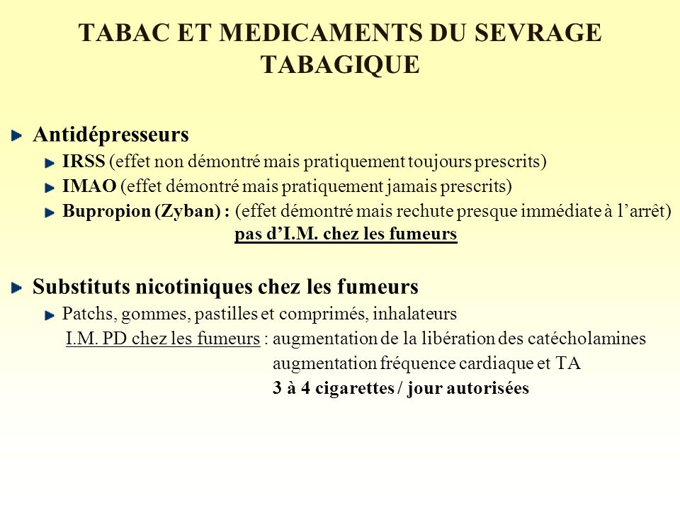 INTERACTIONS TABAC - MEDICAMENTS - ppt télécharger