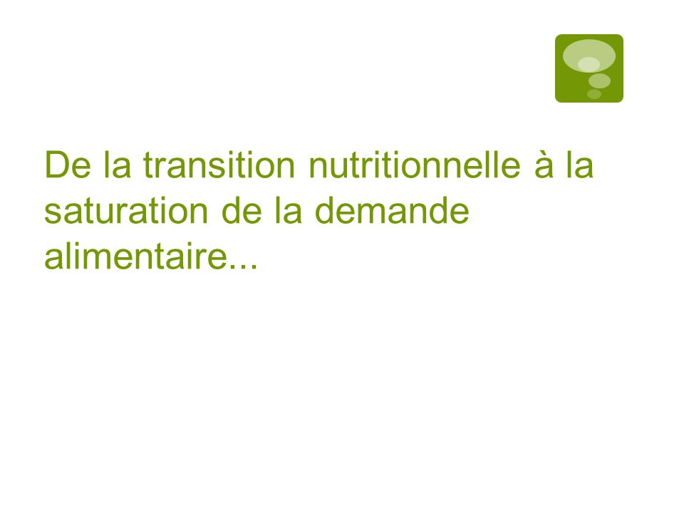 Résultats De la transition nutritionnelle à la saturation de la demande alimentaire...