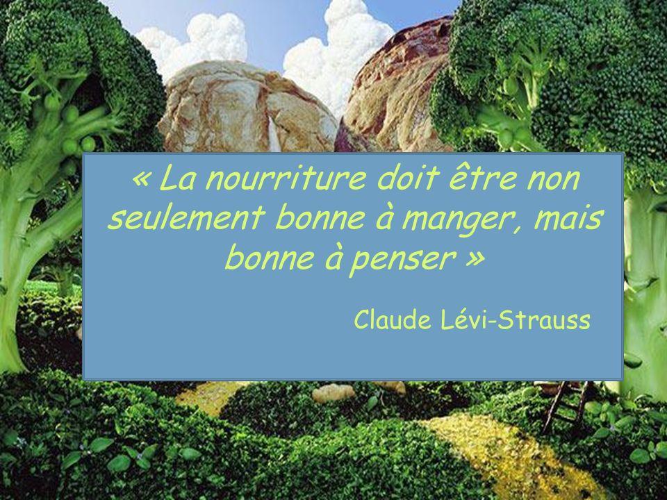 « La nourriture doit être non seulement bonne à manger, mais bonne à penser » Claude Lévi-Strauss