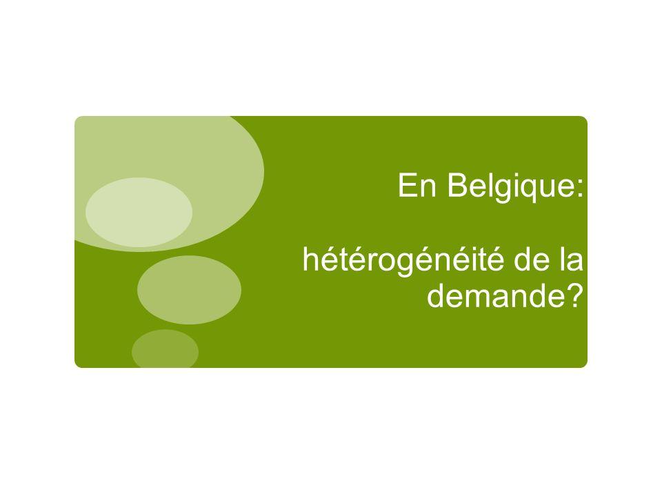 En Belgique: hétérogénéité de la demande