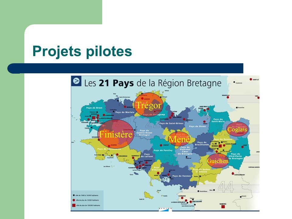 Projets pilotes Trégor Finistère Coglais Mené Guichen