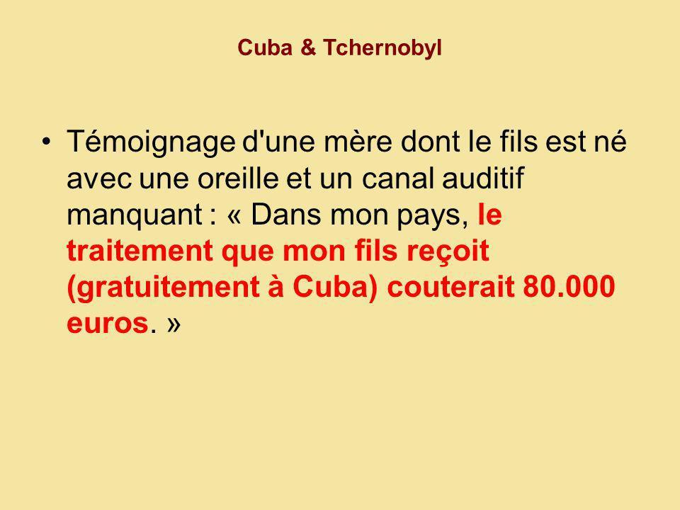 Cuba & Tchernobyl