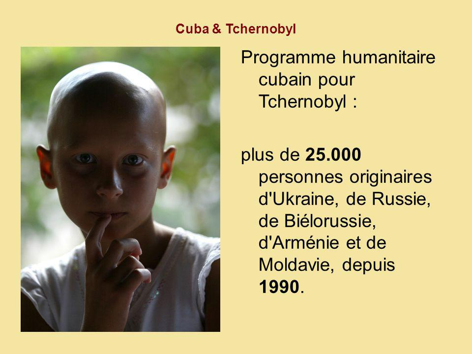 Programme humanitaire cubain pour Tchernobyl :