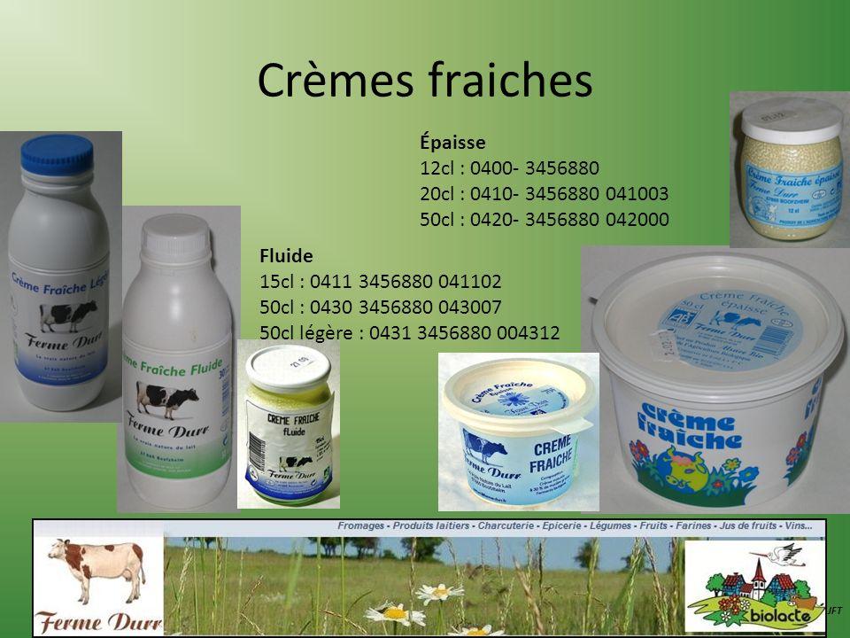 Crèmes fraiches Épaisse 12cl : 0400- 3456880