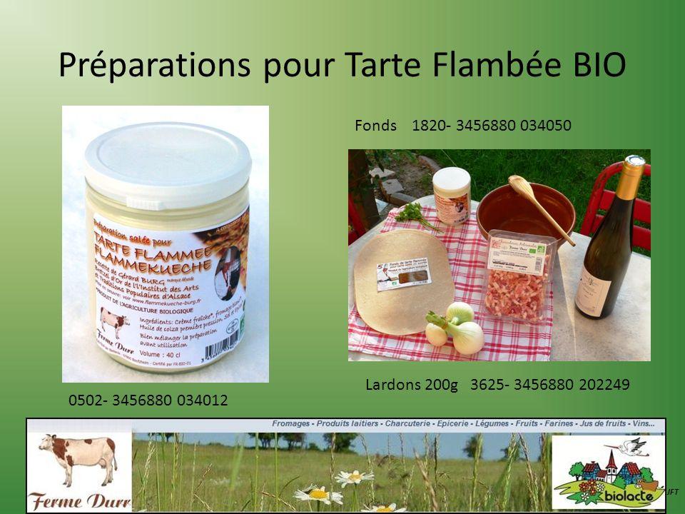 Préparations pour Tarte Flambée BIO