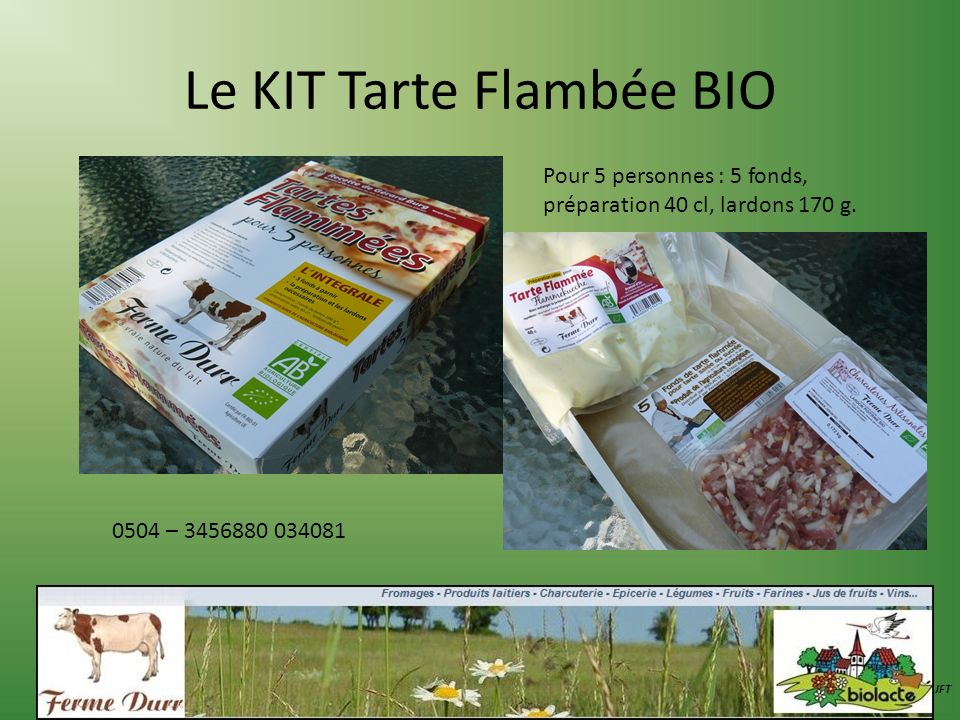 Le KIT Tarte Flambée BIO